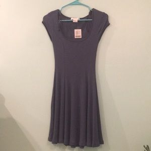 Urban Outfitters navy ribbed dress
